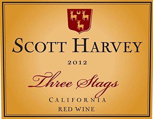 2012 Scott Harvey Three Stags California Red Wine 750 Ml