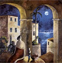 12W x 12H Mirando la Luna by Didier Lourenã§O - Stretched Canvas w/ BRUSHSTROKES