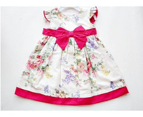Girls Dresses Carter 0-3 Month Cotton Flower Pattern