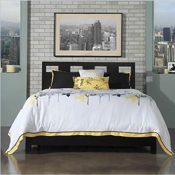 Modus Furniture Nevis Riva Platform Storage Bed in Espresso 2 Piece Bedroom Set