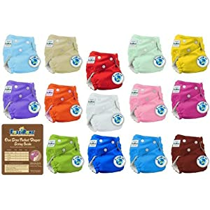 24 Pack Fuzzibunz Cloth Diapers Perfect
