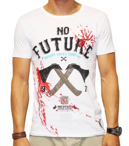 NO FUTURE - Top - Camicia - Maniche corte - Uomo bianco X-Large