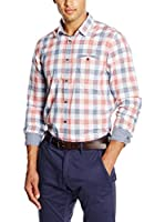 Tom Tailor Camisa Hombre (Rojo / Azul / Blanco)