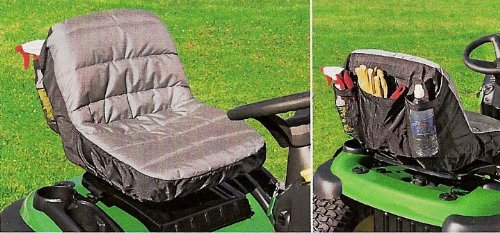 Lawn Tractor Seat Cushions : Tractor seat cushion cover with handy pockets size