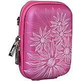 RivaCase®  7023 (PU) Kameratasche (Hardcase - Hartschale) purpurrosa (flowers)