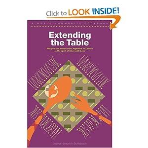 Extending the Table: A World Community Cookbook Joetta Handrich Schlabach