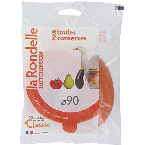 Hutchinson 409367 Sachet de 10 Rondelles Universelles avec un Nez Caoutchouc Orange 90 x 68 x 2,5 cm