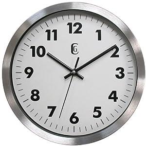 Amazon Com Geneva 10 Inch Metal Wall Clock Home Amp Kitchen