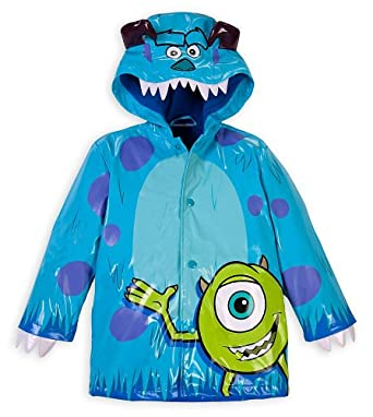 Disney Store Monsters Inc. Sulley and Mike Wazowski Rain Jacket Small 5 - 6