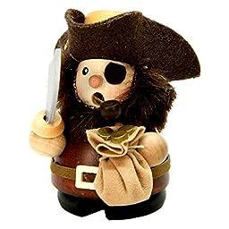1-669 - Christian Ulbricht Incense Burner - Pirate (Natural) - 3.75\