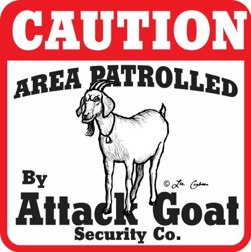 Goat Gifts - Caution Attack Goat Sign