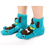 Field For You Women's 3D Dog Thick Knit Slipper Socks With Non-Skid Soles