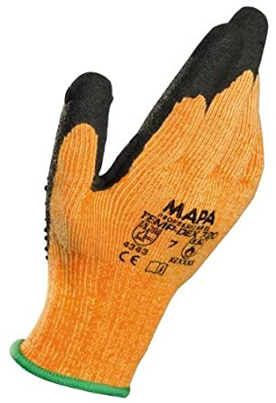 "MAPA Temp-Dex Plus 720 Nitrile Mediumweight Glove, 10-1/4"" Length"
