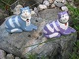 Witzige Enesco Keramik Sitting Cats – Salt & Pepper – Katzen Salz u. Pfefferstreuer