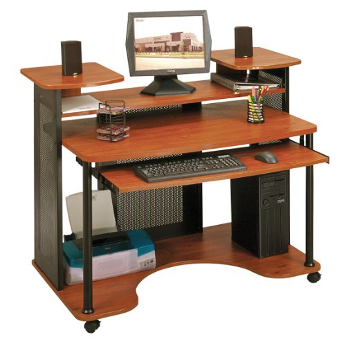 Buy Low Price Comfortable Modern Computer Desk – Black and Cherry Finish (B004XE0JBO)
