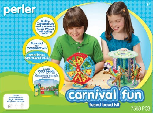 Build A Moving Ferris Wheel And Carousel With Perler Fused Beads - Perler Fused Beads Kit, Carnival Fun Motionator