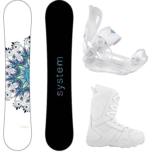 Package-System 2016 Flite Women's Snowboard-146 cm-System Lux Bindings-Siren 2016 Lux Women's Snowboard Boots-9 (Snowboard Package 146 compare prices)