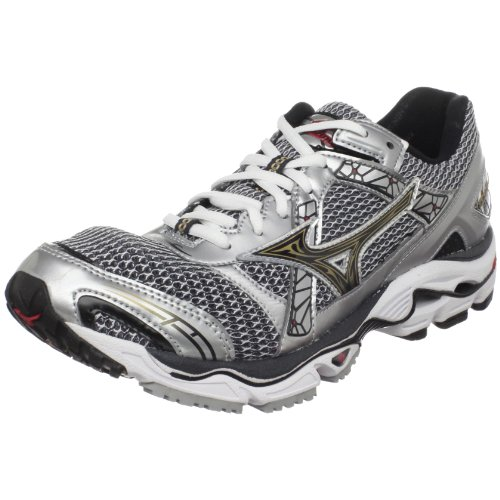 watch 3d64d 5a977 Mizuno Men s Wave Nirvana 7 Running Shoe Silver Anthracite Gold 7 5 M US