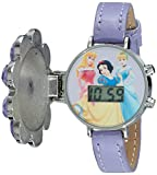 Disney Kids' PN1002 Disney Princess Flower Watch with Leather Band