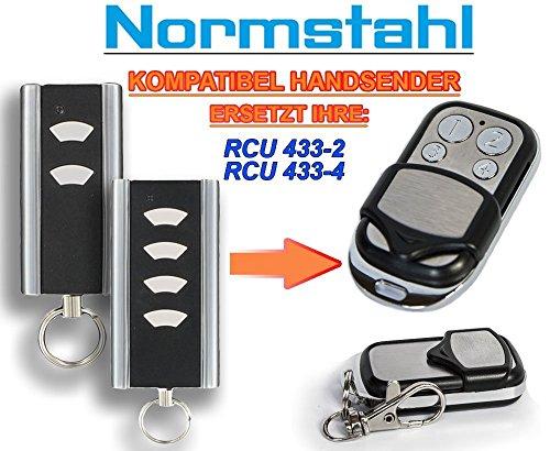 NORMSTAHL RCU433-2, RCU433-4 Kompatibel Handsender, 433.92Mhz rolling code keyfob
