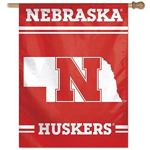 """Nebraska Cornhuskers 27""""x37"""" Banner - N Logo"""