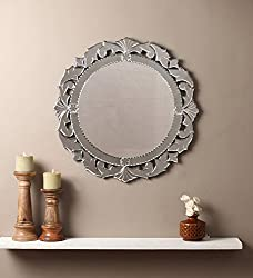 Venetian Design Wall Mirror VDS-07 Size 26x26 Inches Silver Colour