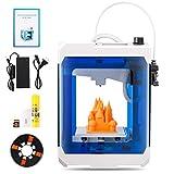 HopeWant Desktop 3D Printer Steam for Design Mini 3D Printer Kit with 250g PLA Filament TF Card High Accuracy 3D Print Education Windows/MAC/Linux Supported (Color: BLUE, Tamaño: 10.5 x 7.6 x 7.5)