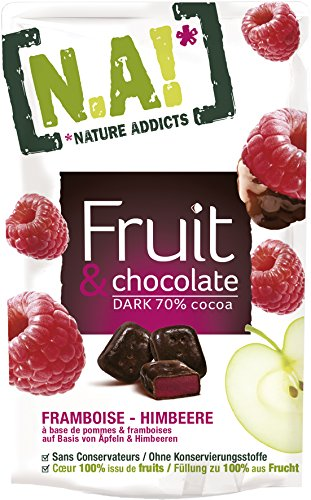 Nature Addicts N.A. Fruit und Chocolate Himbeere, 15er Pack (15 x 35 g)