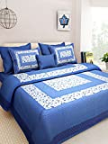 Kismat Collection Comfort Cotton Printed Double Bed Size Bedsheet With 2 Pillow Cover