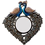 Divraya Wood Peacock Wall Mirror (58.42 Cm X 4 Cm X 60.96 Cm)