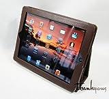 【39s】Apple iPad3/iPad2専用スタンド機能付ケース(ブラウン)