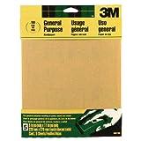 3M Sandpaper Aluminum Oxide, Fine, 9-Inch by 11-Inch