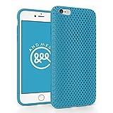 iPhone 6 Plus メッシュ ケース AndMesh Mesh Case for iPhone 6 Plus 日本製 エラストマー ソフトケース 割れない傷つかない優しい質感 Turquoise 水色 ターコイズ | AMMSC610-TRQ