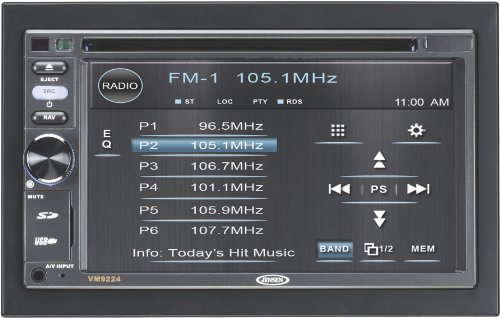 Jensen VM9224BT 2Din 6.2-inch widescreen LCD Car Multimedia Video Receiver
