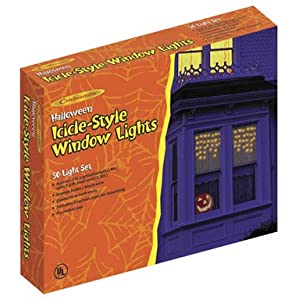 Click to read our review of Outdoor Halloween Lights: Halloween Window Drape Lighting
