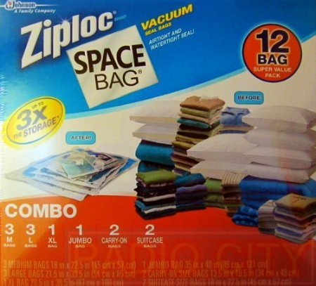 Ziploc Space Bag 12 Vacuum Seal Bags Super Value Pack