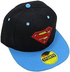 Masti Station Hip Hop Snapback Superman Cap (Black and Blue)