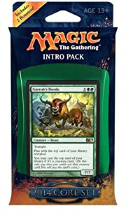 Magic the Gathering M14: MTG: 2014 Core Set Intro Pack: Bestial Strength Theme Deck (Includes 2 Booster Packs)