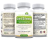 100% Herbal, All-Natural & Non-Habit Forming Sleep Aid, Calming & Eases Anxiety, With Chamomile, Melatonin and Vitamin B6, 60 Vegetarian Capsules, 100% Money-Back Guarantee
