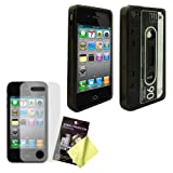 Cbus Wireless Smoke Flex-Gel Cassette Tape Case / Skin / Cover & LCD Screen Guard / Protector for Apple iPhone 4s / 4 4G Reviews