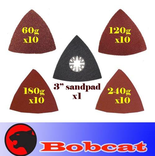41 Pcs Triangular Sanding Kit Sanding Pad w/ Velcro Oscillating Multi Tool Saw Blades Sand for Fein Multimaster Bosch Multi-x Craftsman Nextec Dremel Multi-max Ridgid Dremel Chicago