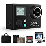 HD 4K Action Camera, Bototek Waterproof SONY Sensor Sport recorder 16MP Sports Diving Cam with 2 inch LCD Screen, Built-in Wi-Fi, 170 Degree Wide Angle