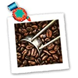 qs_100458_2 Florene Food and Beverage - Coffee Grinder n Beans Closeup - Quilt Squares - 6x6 inch quilt square