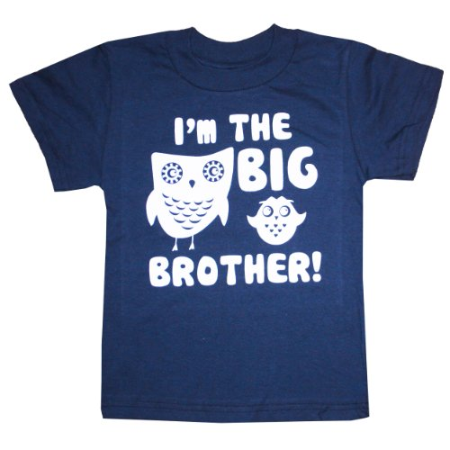 Happy Family Clothing Little Boys' I'M The Big Brother T-Shirt (4/5 T, Navy)