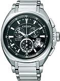 [シチズン]CITIZEN 腕時計 ATTESA アテッサ Eco-Drive エコ・ドライブ 電波時計 ワールドタイム クロノグラフ ジェットセッター ダイレクトフライト ATD53-3011 メンズ