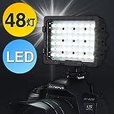 サンワダイレクト カメラLEDライト カメラ&ビデオカメラ用 48灯 シューブラケット付属 200-DG003