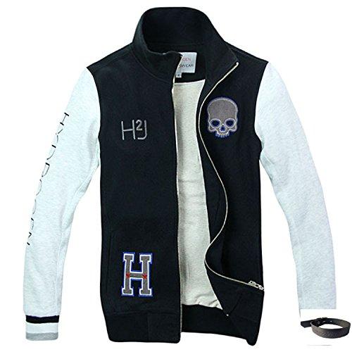 (ハイドロゲン)HYDROGEN パーカー メンズ プルオーバー トレーナー 人気 おしゃれ HYD-125 (オリジナルブレスレットセット)【並行輸入品】 (L, ブラック)