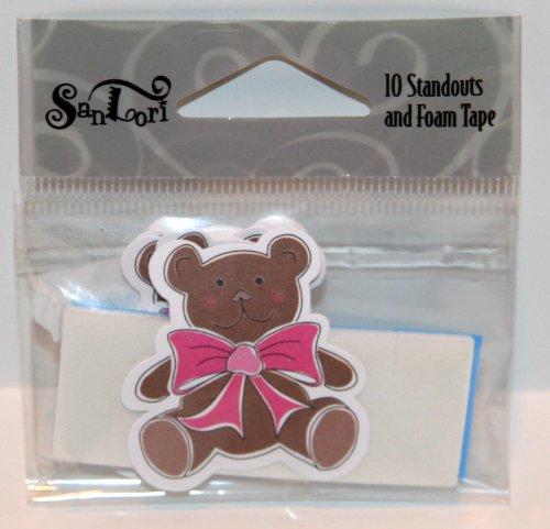 SanLori 10 Pack Cute Bebe Brown Teddy Bear #D-348