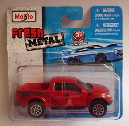 Maisto Fresh Metal Die-Cast Vehicles ~ Ford F-150 SVT Raptor (Red)