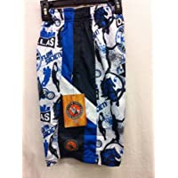 Flow Society Lacrosse Presents Flow Hoops Certified Basketball Gear Dallas Texas White with Royal and Black Mesh Short Youth Large L